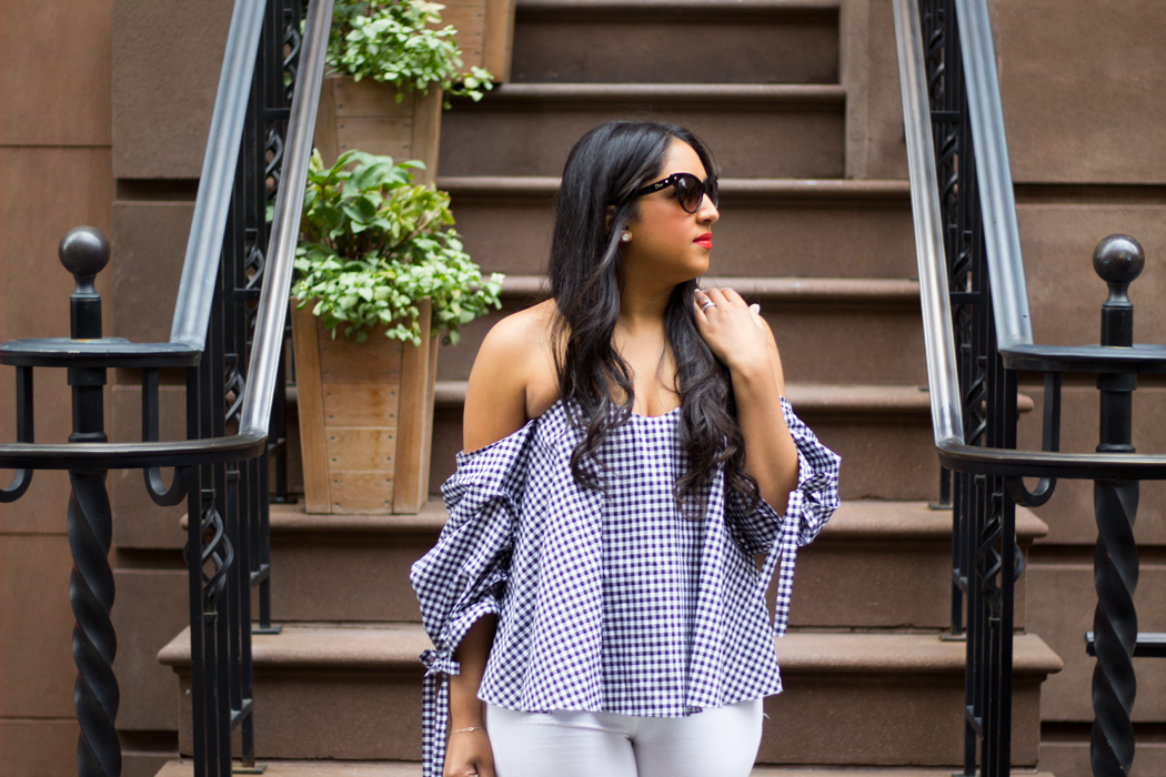 gingham-top