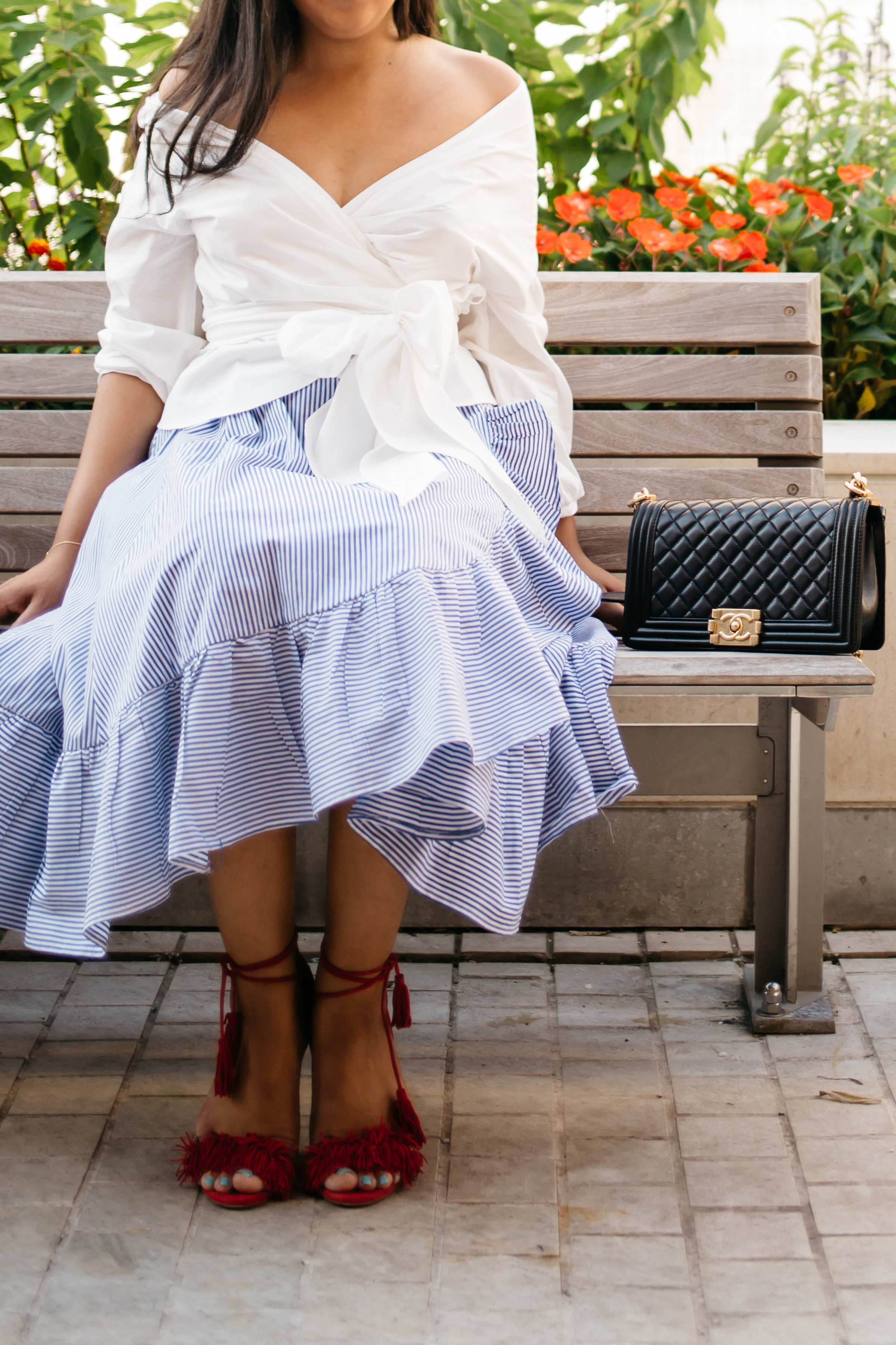 blue-stripe-southern-dress
