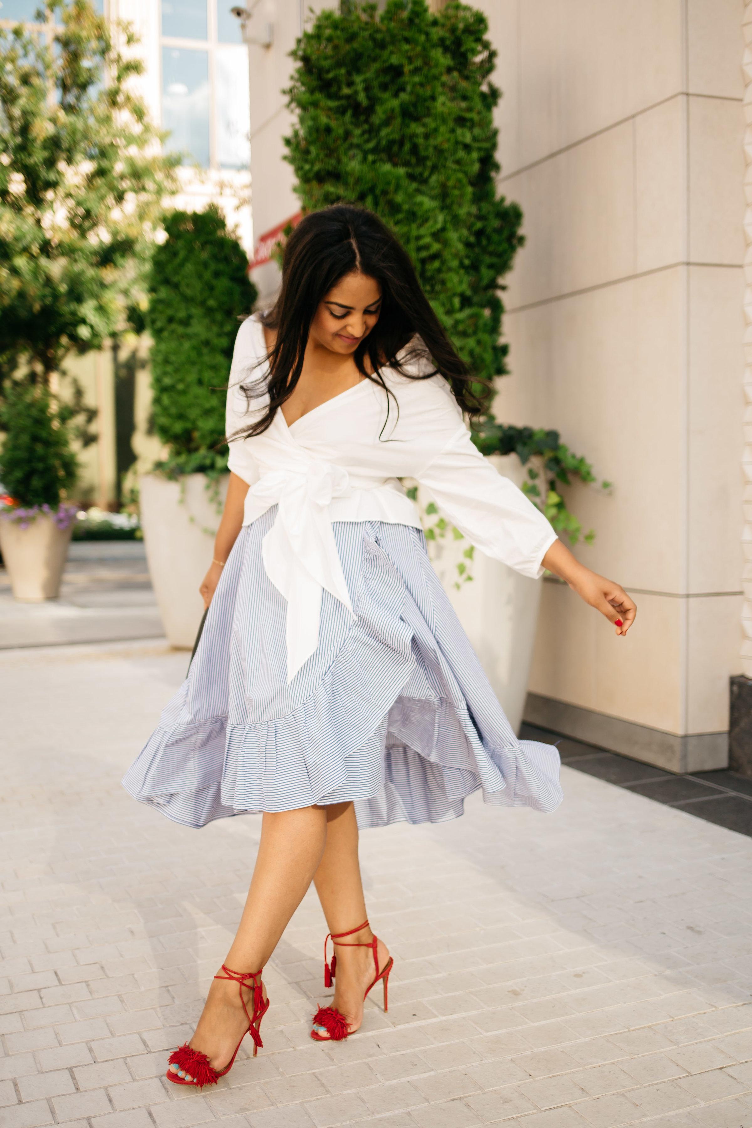 blue-stripe-summer-skirt