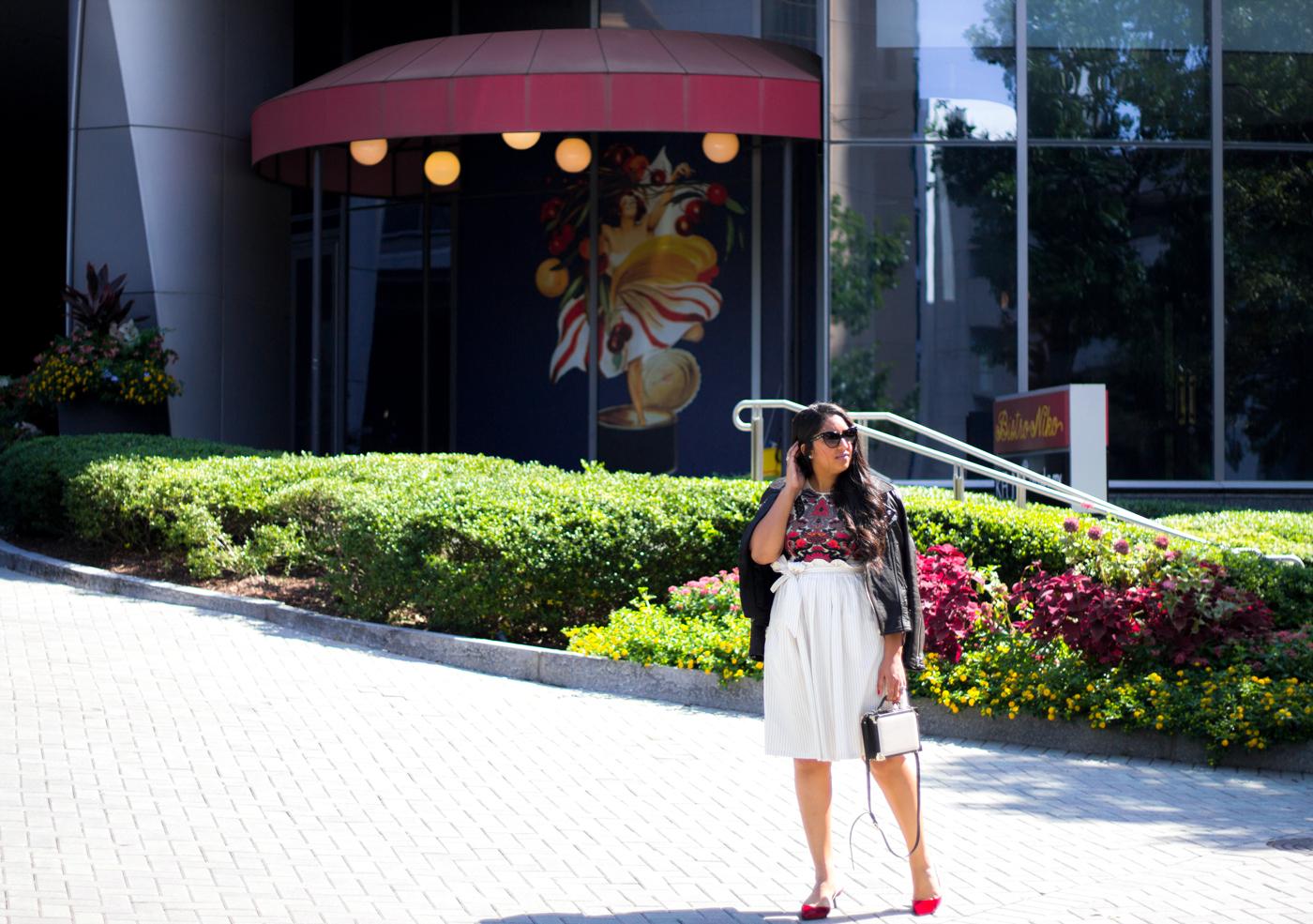 mango-pinstripe-skirt