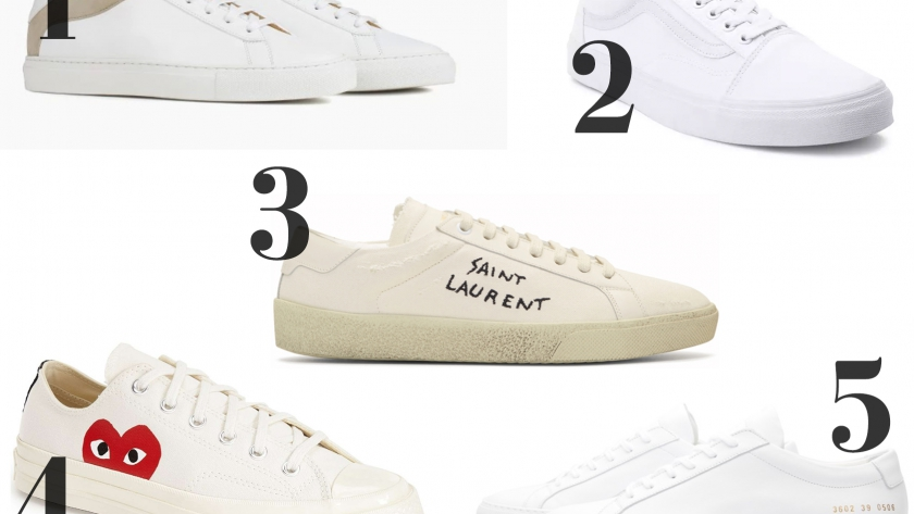 Top 5 White Unisex Sneakers