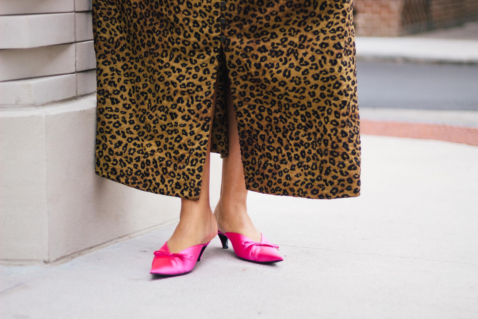 Balenciaga-Pink-Satin-Knife-Mules
