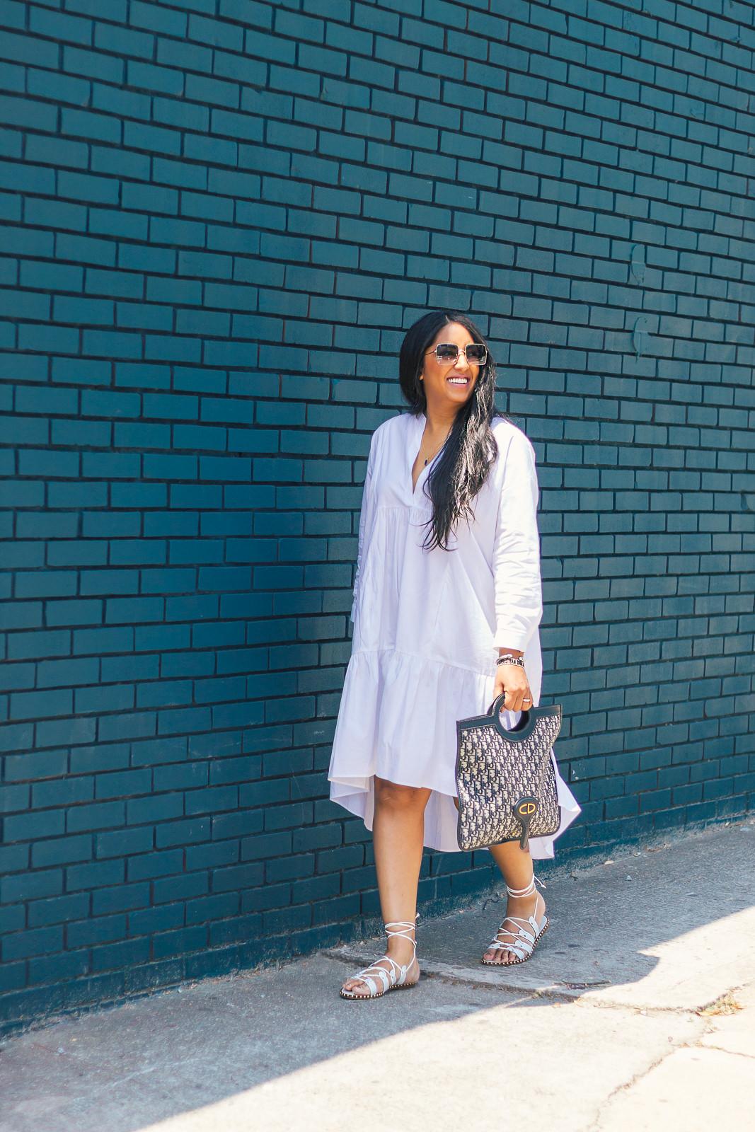 white-zara-poplin-dress