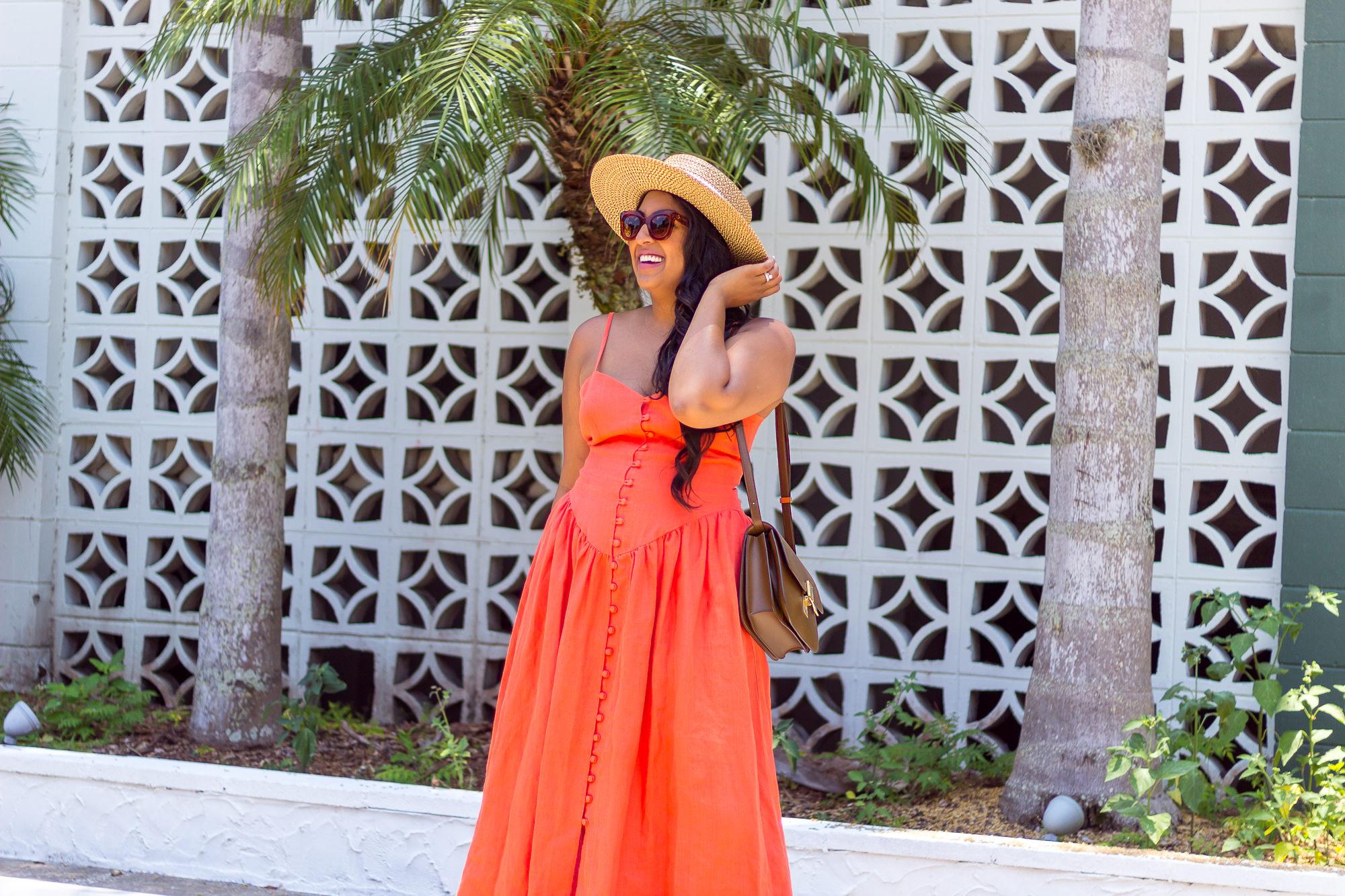 mara-hoffman-coral-dress