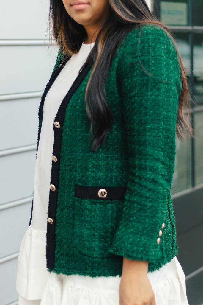 zara-new-green-tweed-blazer