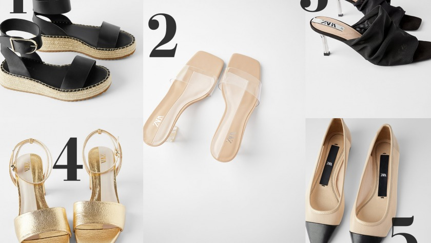 The Top Five Shoes At Zara Right Now